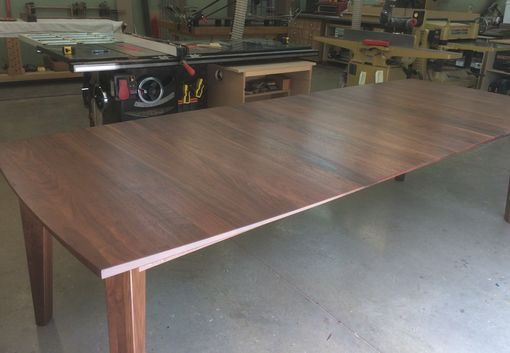 Custom Made Solid Walnut Buffet With Matching Walnut Extension Table