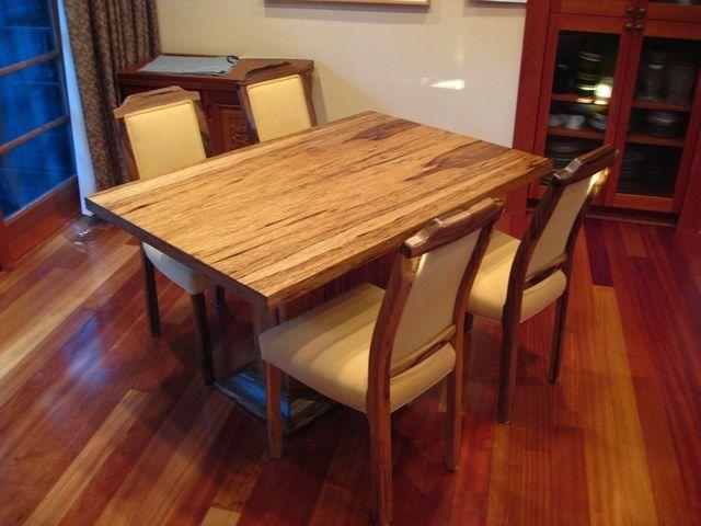 Custom Black Limba Table & Chairs by Sheridan Woodworking