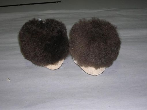 Custom Made Baby-Infant Booties Buffalo Fur