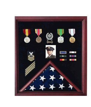 Custom Made Flag Photo And Badge Display Case