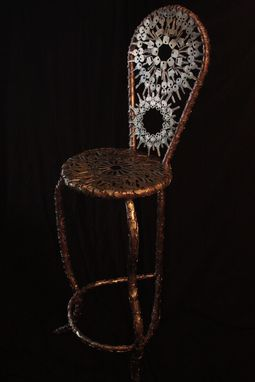 "Custom Made Modern Metal Chair ""Missis Key"""