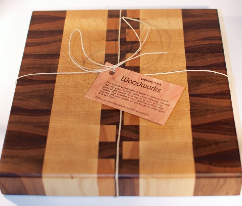 handmade walnut, maple and cherry end grain wood cutting board by, Kitchen design