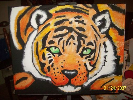 Custom Made Painting Of Tiger