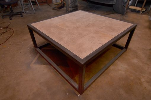 Custom Made Tile Top Coffee Table
