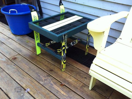 Custom Made Table Made Of Skis