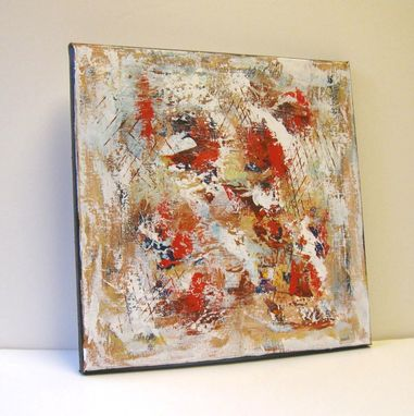 Custom Made Rust Abstract Original Acrylic Painting On Canvas