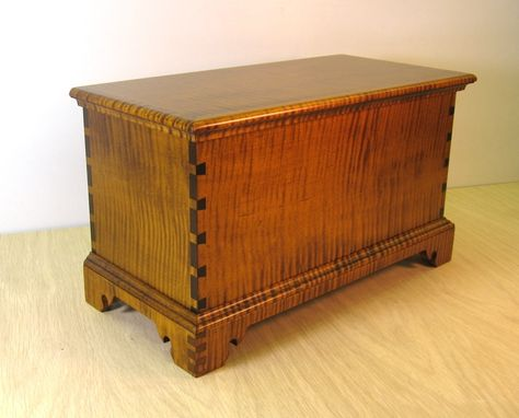 Custom Made Tiger Maple Miniature Blanket Chest  Keepsake Box