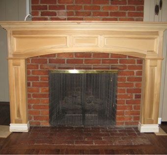 Custom Made Fireplace Mantle Mock-Up