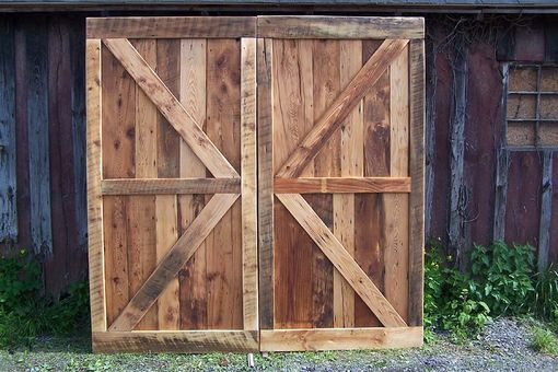 Custom Made Vintage Barn Doors Made From Reclaimed Antique Pine