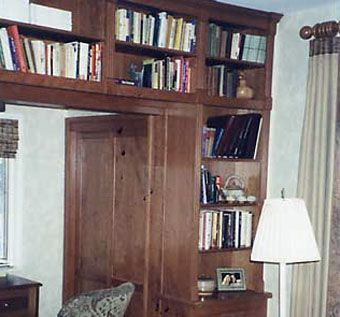 Custom Made Cherry Home Office With Bookcases