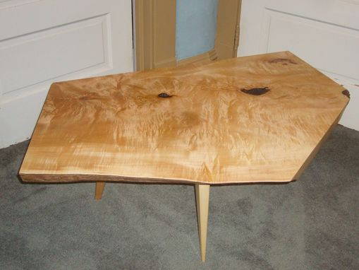 Custom Made Rack Maple Coffee Table With Inclusion