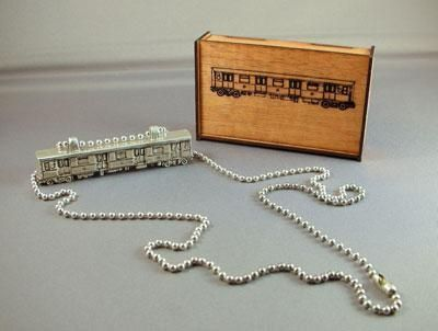 Custom Made Nyc Subway Car Necklace - Bling Version