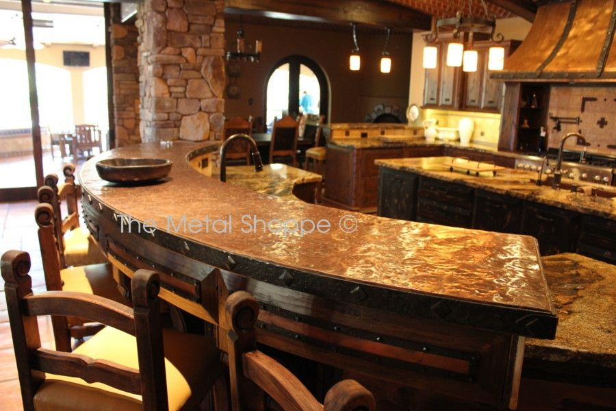 Handmade Custom Kitchen Hood And Counter Top by The Metal Shoppe ...