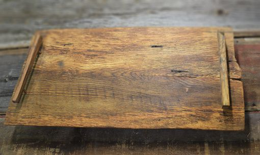 Custom Made Rustic Oak Serving Tray