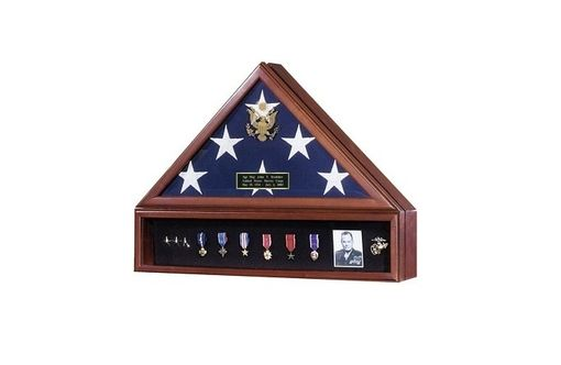 Custom Made American Flag Case And Medal Display Case - Presidential