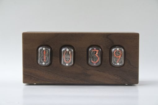 Custom Made Nixie Clock - Heartwood Walnut