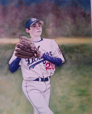 Custom Made Custom 11 X 14 Watercolor Sports Portrait  From Your Photo