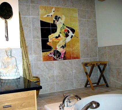 Custom Made Bathroom Tile Mural