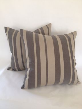 Custom Made Pygmy Stripe / Flannel Pillow Cover