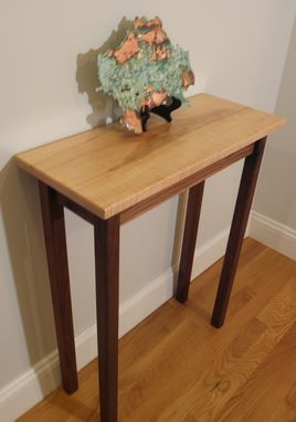 Custom Made Solid Curly Maple And Black Walnut Table