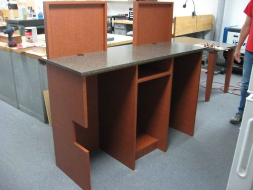 Custom Made Teller Station And Table