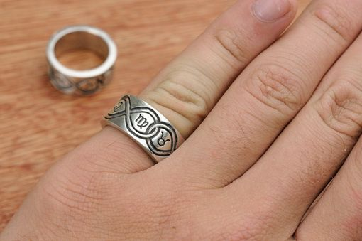 Custom Made Infinity Rings With Astrological Signs