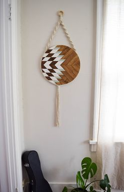 Custom Made Elara - Round Macrame Wood Wall Art Hanging