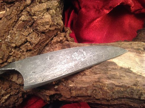 Custom Made Damascus Gotland Ring Knife