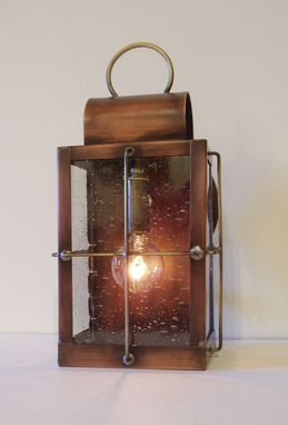 "Custom Made Solid Copper Lantern ""The Footman"""