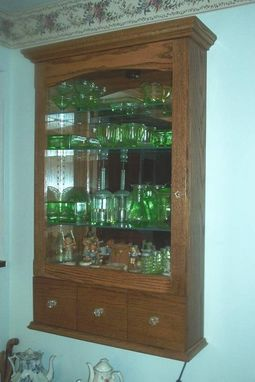 Custom Made Wall-Hung Curio Cabinet