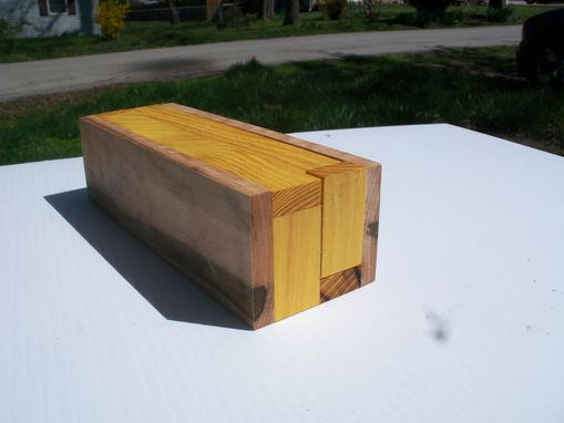 Custom Made Osage And Quilted Maple Handcrafted Pencil Box