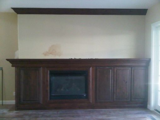 Custom Made Mantle/ Fireplace Wall