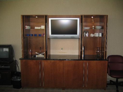 Custom Made Cherry Credenza Wet Bar