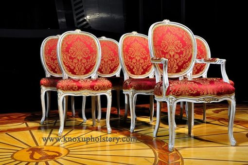 Custom Made Set Of 7 Chairs Built From The Frame Up For A Theatrical Company