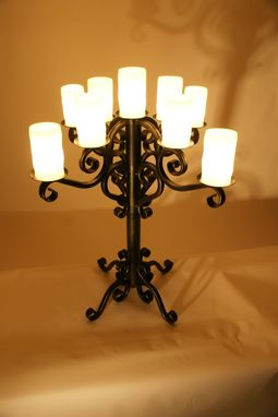Custom Made Handmade Iron Candelabra