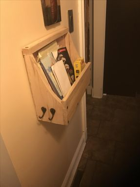 Custom Made Artisan Interior Mailbox And Key Holder