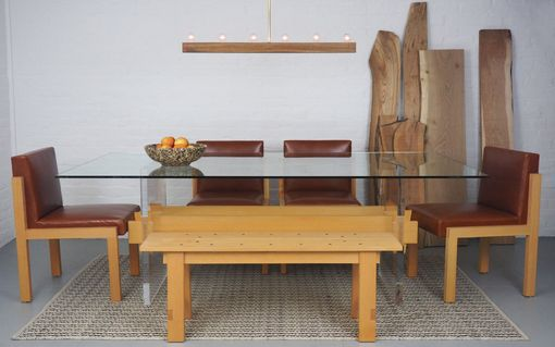 Custom Made Floating Trestle Dining Table