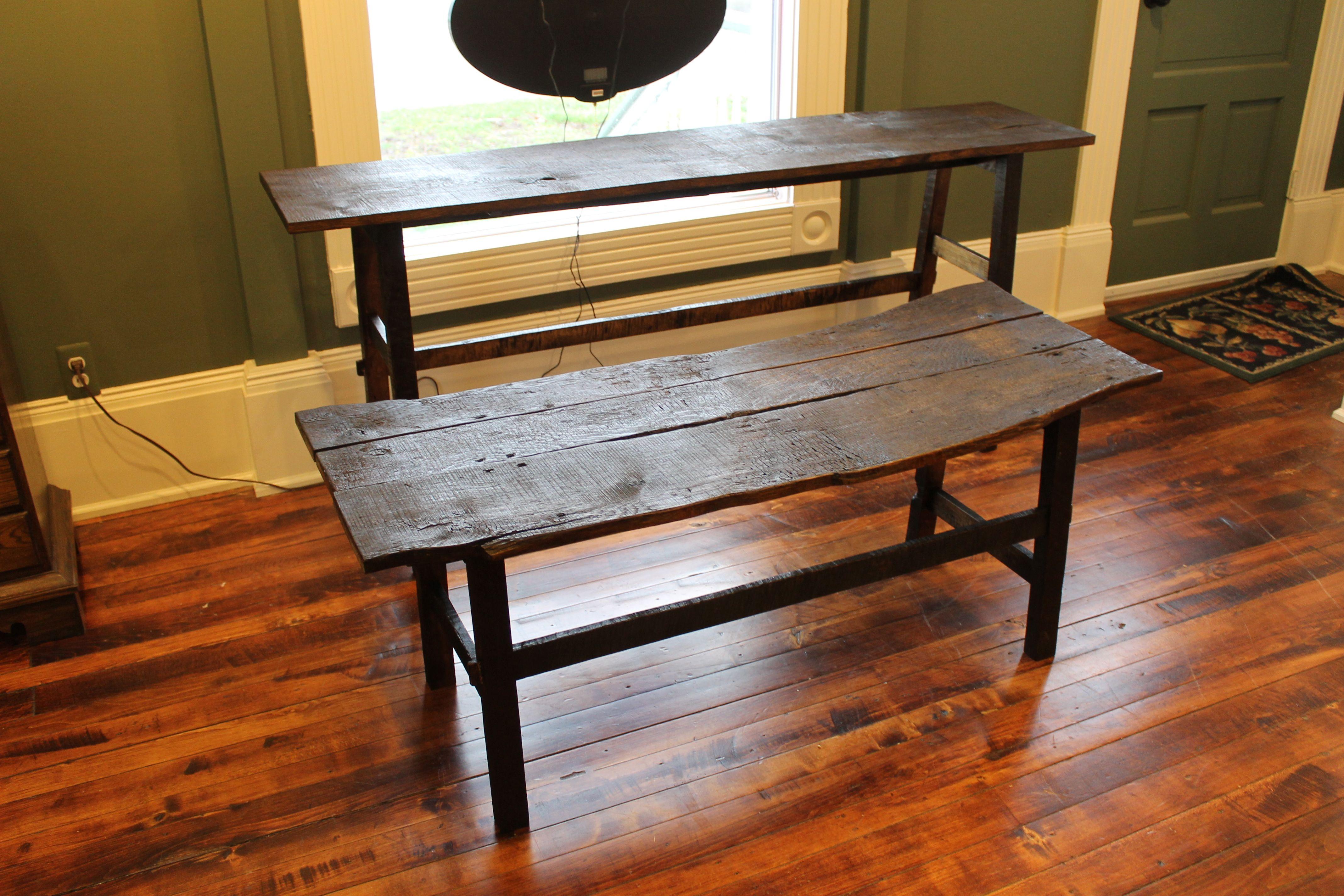 Handmade Reclaimed Barnwood Sofa Table And Coffee Table By I Mobili