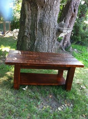 Custom Made Rustic Reclaimed Wood Coffee/Dining Table