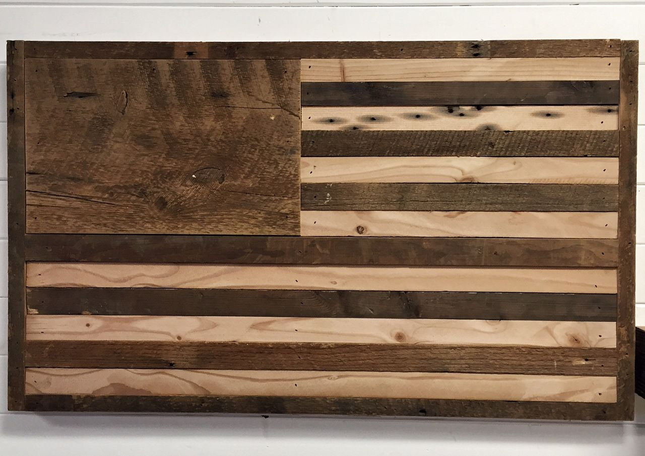 Buy A Hand Crafted Reclaimed Wood American Flag Wall Decor
