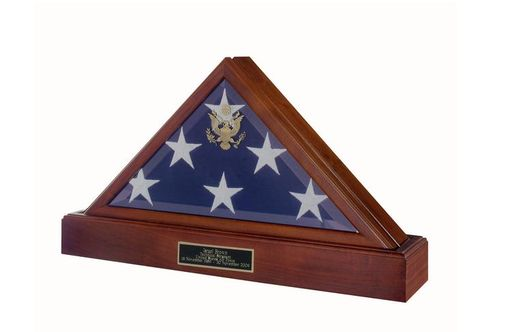 Custom Made American Burial Flag Case