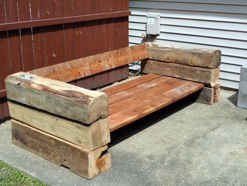 Custom Made Outdoor Chairs And Sofa Made From Reclaimed Barn Wood