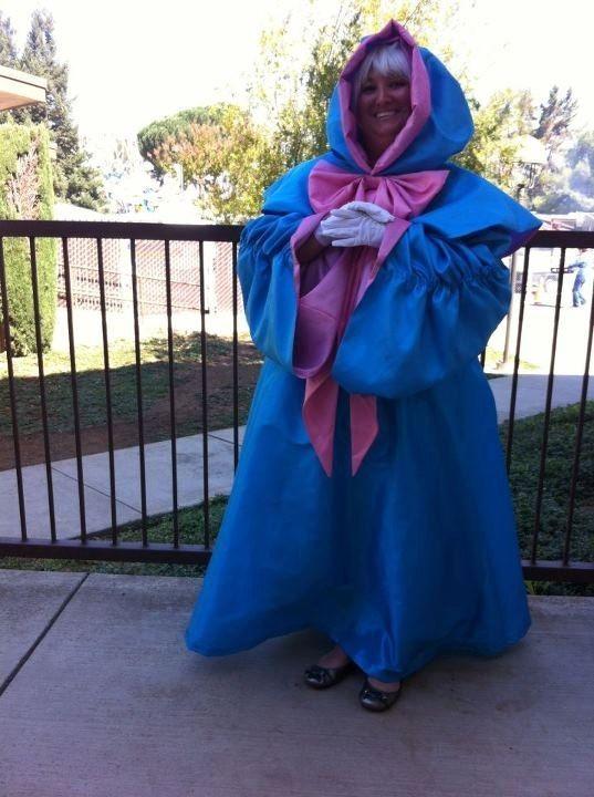 hand made fairy godmother cinderella costume adult plus