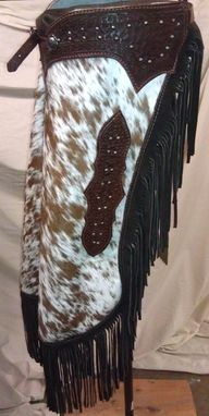 Custom Made Hair On Cowhide Chinks.