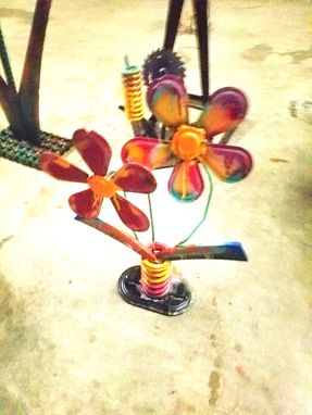 Custom Made Metal Flower Art By Raymond Guest