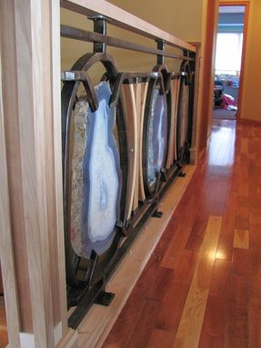 Custom Made Blue Agate Handrail