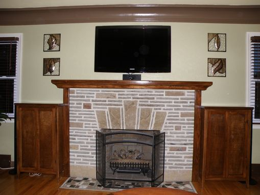 Custom Made Fireplace Mantle