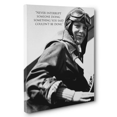 Custom Made Never Interrupt Amelia Earhart Motivation Quote Canvas Wall Art