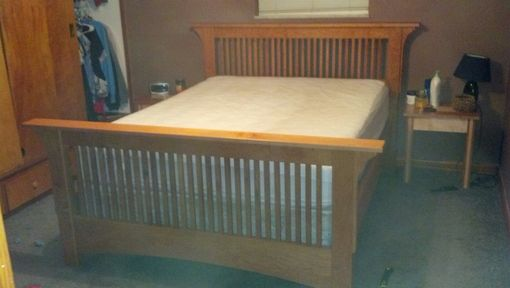 Custom Made Mortise & Tenon Solid Cherry Mission Bed