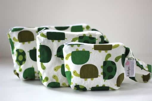 Custom Made Gusseted Messy Bag Set (Snack Bags) - Turtles